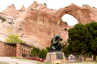 Memorial to the Navajo Code Talkers.
