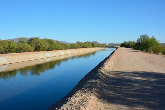 The Arizona Canal off Beeline Highway.